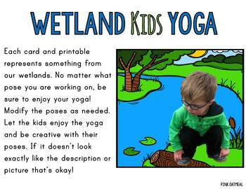 wetland themed kids yoga cards and printables  tpt