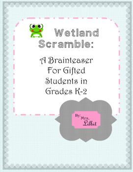 Wetland Word Scramble