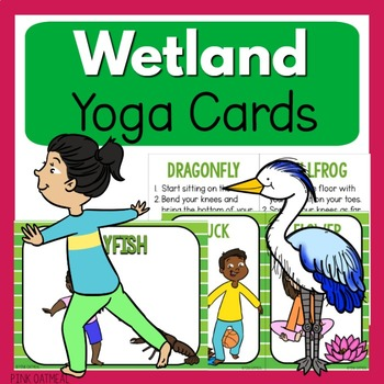 Wetland or Pond Yoga Cards and Printables