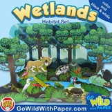 Wetlands Habitat Craft Activity   Florida Everglades Animal Habitat Diorama