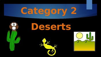 Wetlands, Mountains, Deserts Ecosystems GAME ON (Jeopardy)