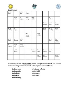 Wetter (Weather in German) Sudoku