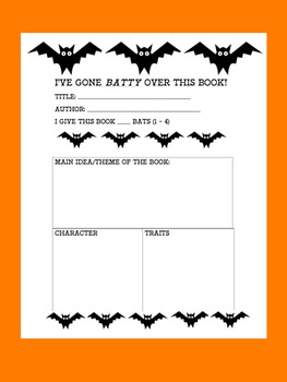 We've Gone Batty Over These Books Halloween Bulletin Board Theme