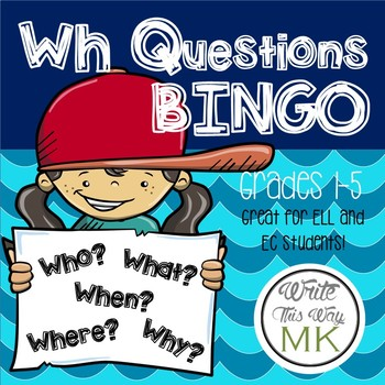 Wh Questions BINGO