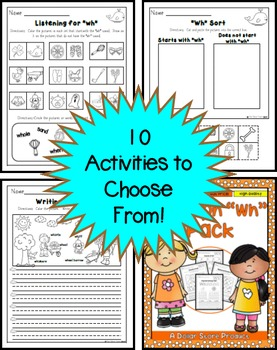 Wh Blend (Digraph) Practice Printables Pack