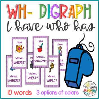 Wh- Digraph I have Who has Phonics Game