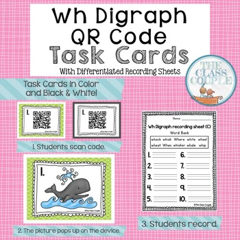 Wh Digraph QR Code Task Cards