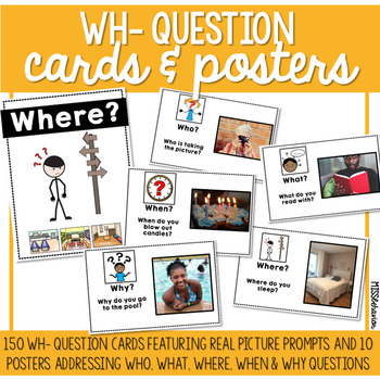 Wh- Question Cards & Posters | Real Photos