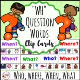Phonics Clip Cards WH Question Words