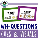 Wh-Question Cue Cards & Visual Supports