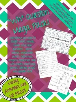 Wh Question Mega Pack!
