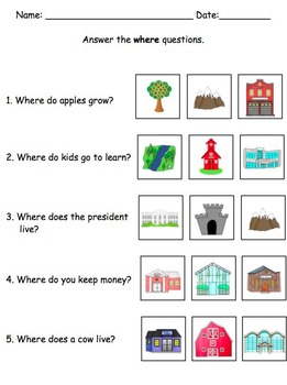 Wh Question Mega Pack By The Autism Helper Teachers Pay Teachers - Download Wh Questions Worksheets For Kindergarten Pdf PNG