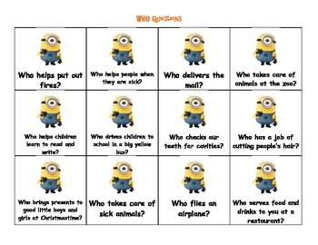 Wh- Question Minions