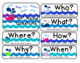 """""""Wh"""" Question Posters [Who, What, Where, When, Why, How"""