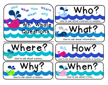"""Wh"" Question Posters [Who, What, Where, When, Why, How"