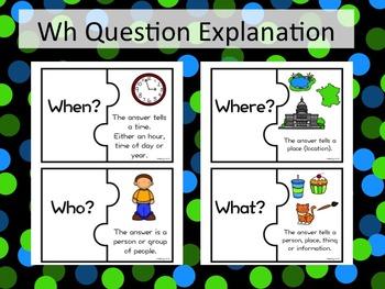Wh Question Puzzles