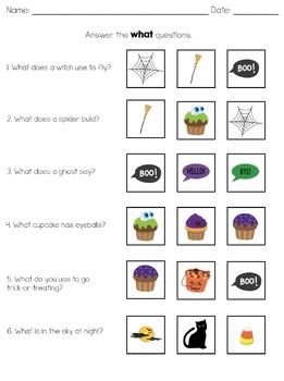 Wh- Question Seasonal Units Preschool and Kindergarten