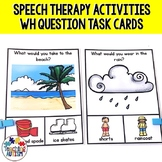 Wh Questions Visual Task Cards for Speech Therapy