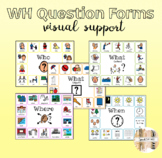 Wh Question Visuals (who, what object, what action, where, when)