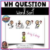 Wh Question Word Sort BOOM Cards distance learning speech therapy