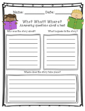 Wh- Question Worksheet