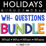 Wh- Questions Bundle for Speech Therapy