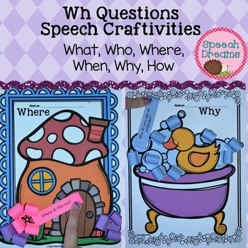 Wh Questions Crafts {Answering Questions Language Skills}