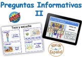 Wh Questions II (Preguntas Informativas II). Boom Cards. D