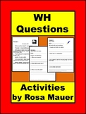 Wh Questions Worksheets