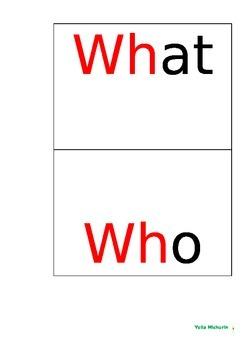 Wh Questions - Present Progressive Lesson Plan