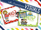 Rainbow Dots - Wh- Questions Visuals FREEBIE