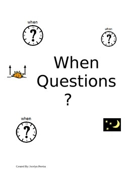 Wh Questions-When Booklet