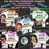 Speech Therapy Wh-Questions Who What Where When Why Interactive Books BUNDLE