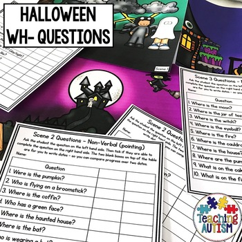 Wh- Questions and Scenes - Halloween