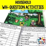 Wh Questions for Speech Therapy, Home Scenes