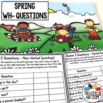 Wh- Questions and Scenes - Spring