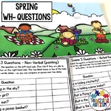 Wh Questions for Speech Therapy, Spring