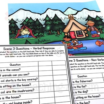 Wh Questions and Scenes Summer Theme