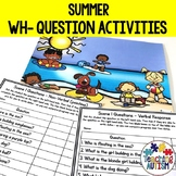 Wh Questions for Speech Therapy, Summer Theme
