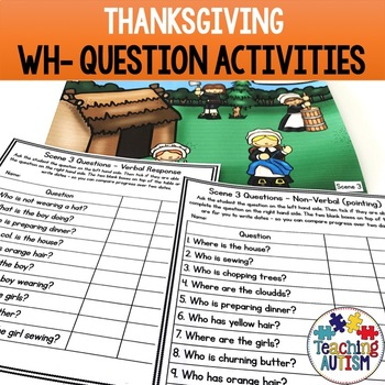 Wh- Questions and Scenes - Thanksgiving