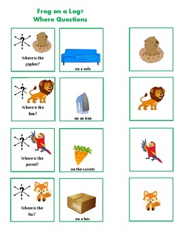 Rhyming Pairs, Wh- Questions, and Spatial Concepts ***FREE for a limited time**