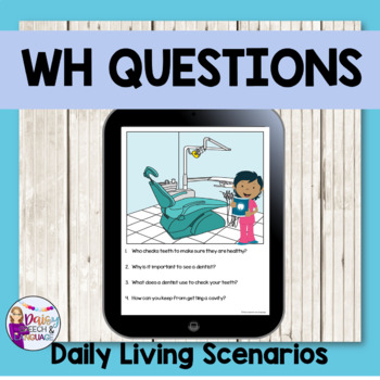 Wh Questions for Speech Therapy: No Print!