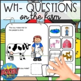 Wh- Questions on the Farm: Interactive Book + Boom Cards