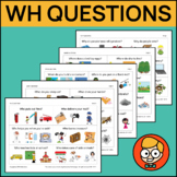 Wh Questions with Three Visual Answer Choices