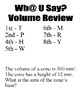 Wh@ U Say Volume Review