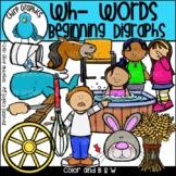 Wh Words Beginning Digraphs Clip Art Set