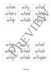 Wh Digraph Read, Write, Cut and Paste