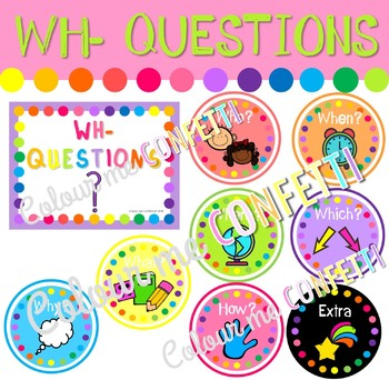 Wh- questions - Colour me Confetti