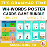 Wh words poster + Wh-Cards Game