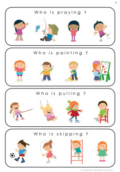 Who Questions - Action Verbs - Special Education